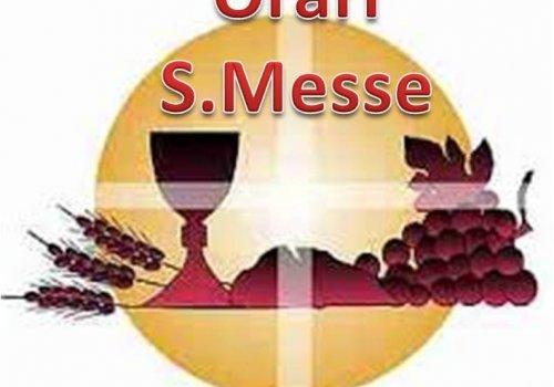 Nuovo orario Messa Vespertina